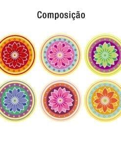Mandalas azulejos autocolantes Composição