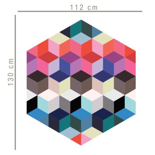 Vinil Decor Cubos Efeito Profundidade Dimensões