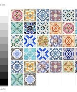 Azulejo Tradicional Espanhol - Espectro de Cores