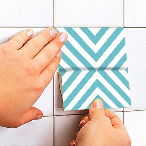 Blue Dreams azulejos autocolantes Aplicação