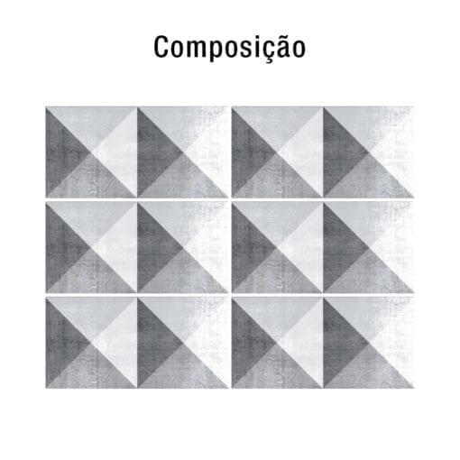 Geometric Stone decoração de azulejos Composição