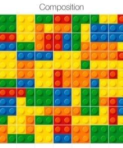 Lego Azulejos Autocolantes - Composição