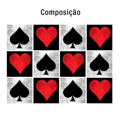 Playing Cards azulejos autocolantes Composição