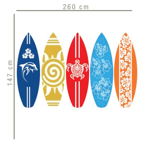 Pranchas de Surf vinil decorativo Dimensões