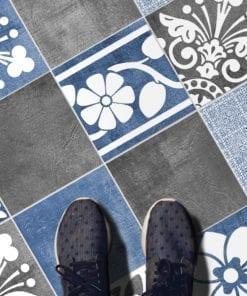 Vogue Blue Revestimento para Azulejos - Chão