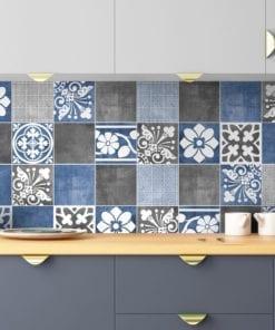 Vogue Blue Revestimento para Azulejos - Parede