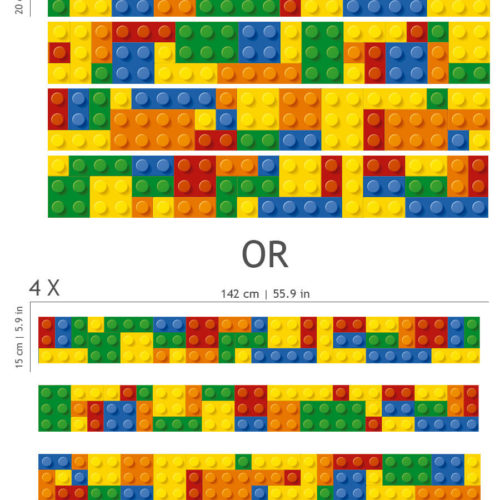 Lego Faixa Decorativa em Vinil Dimensões