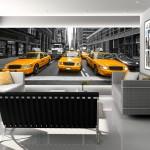 New York Cabs Mural