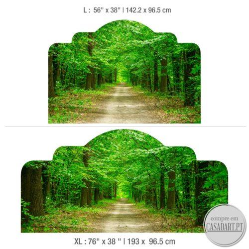 Floresta Cabeceiras de Cama Dimensões