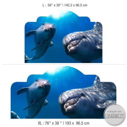 Golfinhos Cabeceiras para Cama Dimensões