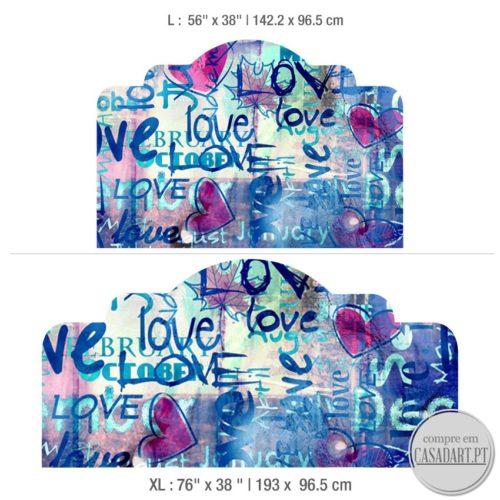 Graffiti Love Cabeceiras para Cama Dimensões