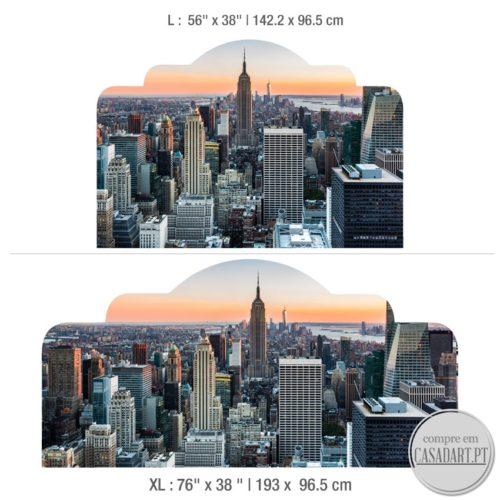 New York Cabeceiras de Cama Dimensões
