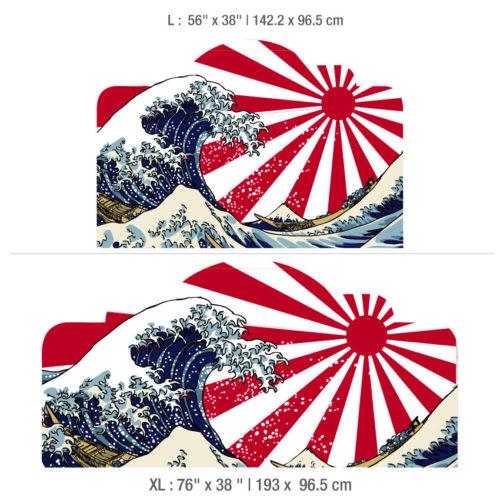 Tokyo Wave Cabeceiras de Cama Dimensões