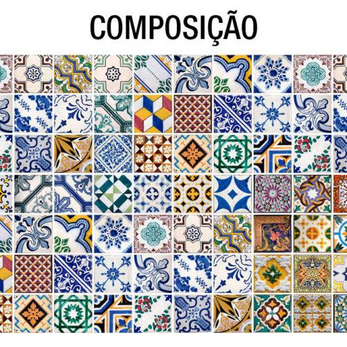 Azulejos Tradicionais Portugueses Composição