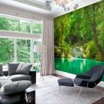 Floresta com Lago - Mural - Destaque