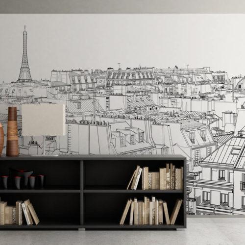 Paris em linhas - Mural - Destaque