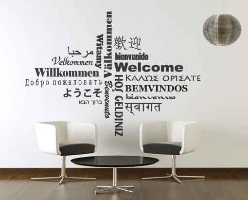 BEM-VINDO em Várias Línguas