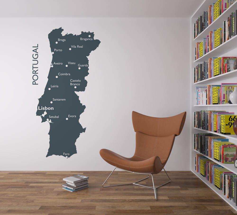 mapa portugal paredes Mapa de Portugal   Casadart.pt mapa portugal paredes
