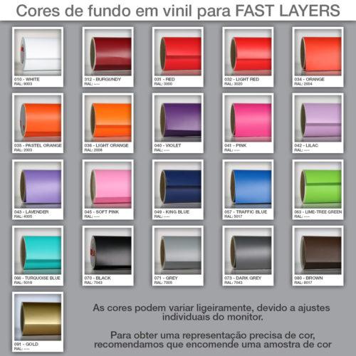 Tabela de Cores FAST LAYERS