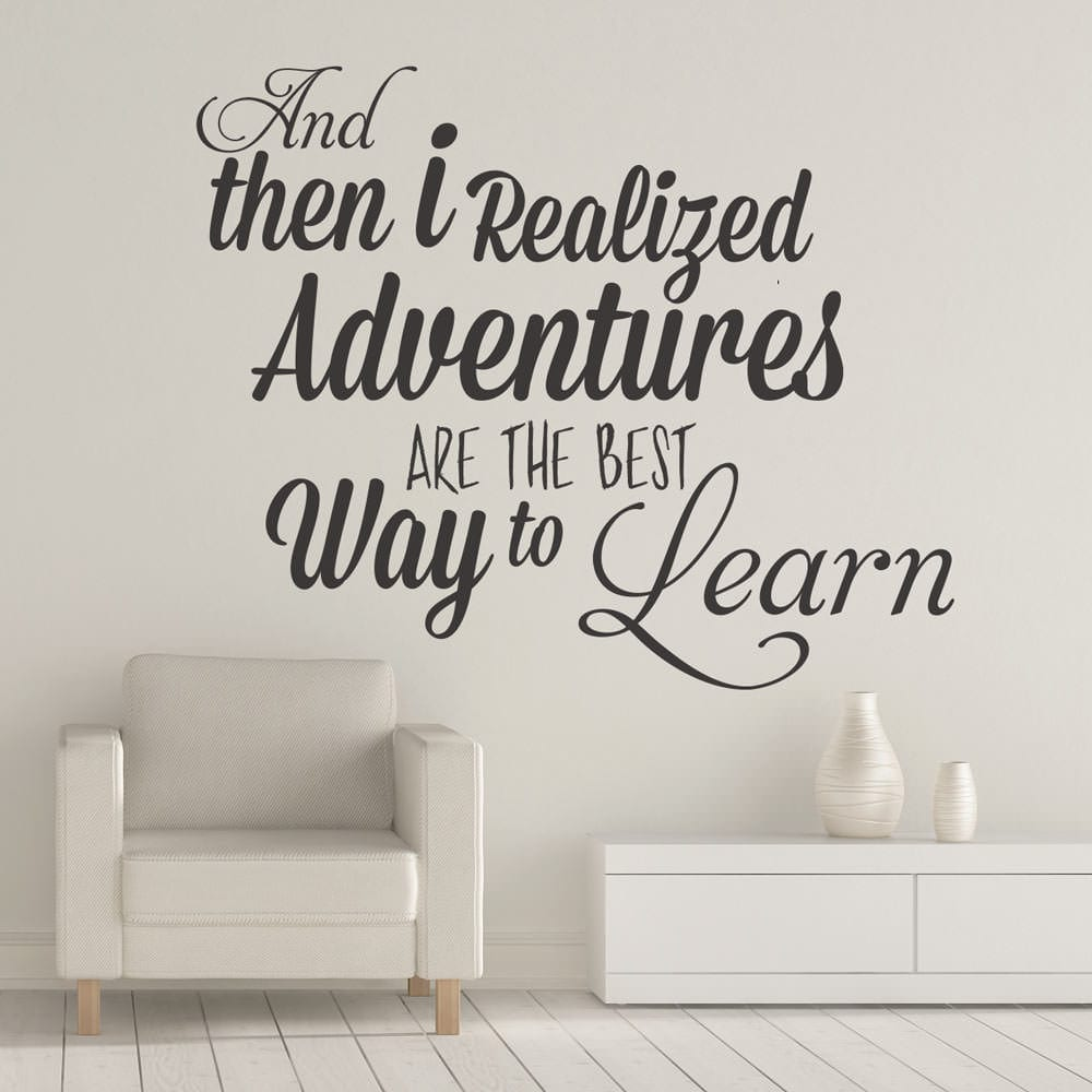 Adventures are the Best Way to Learn