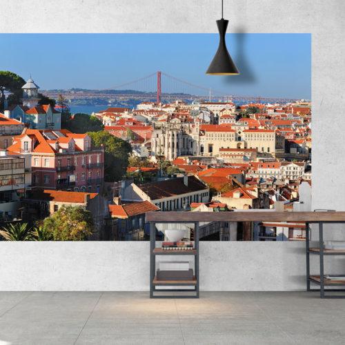 Vista de Lisboa para a Ponte faixa mural