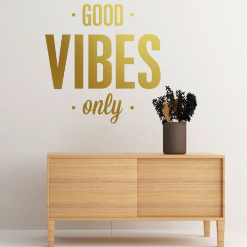Good Vibes vinil decorativo