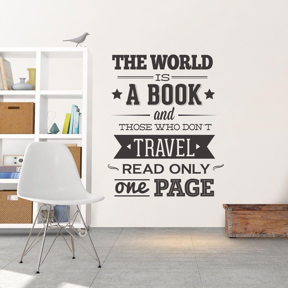 The World is a Book vinil decorativo