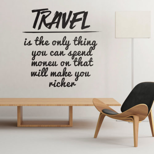 Travel Makes You Richer vinil decorativo