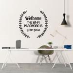 Wifi Password vinil decorativo