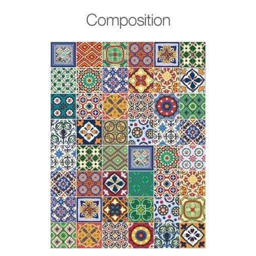 Azulejos Autocolantes Talavera - Composição