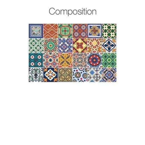 Azulejos Autocolantes Talavera - Composição 24