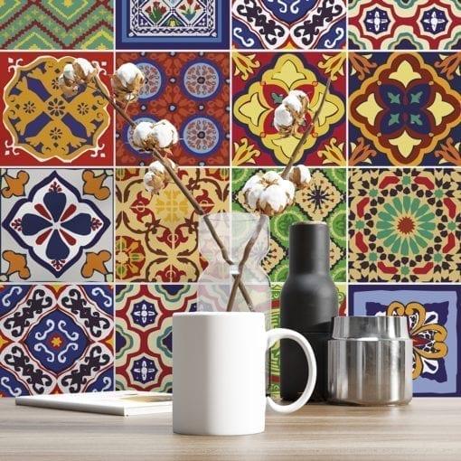 Azulejos Autocolantes Talavera - Parede 1