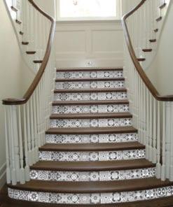 Azulejos Escala de Cinzas para Chão - Escadas