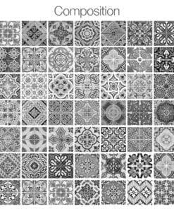 Azulejos Tradicionais Portugueses PB - Composição