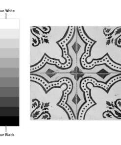Azulejos Tradicionais Portugueses PB - Espectro de Cores