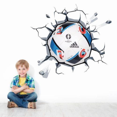 Bola do UEFA Euro 2016 na Parede vinil autocolante