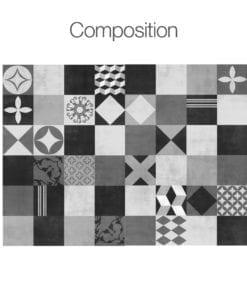 Geométrico Grafite - Composição