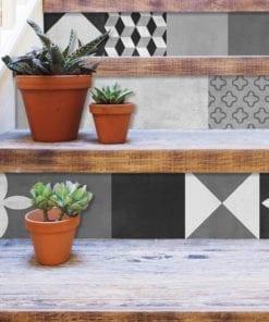 Geométrico Grafite - Escadas