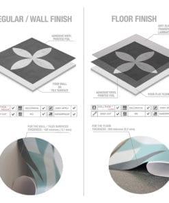 Geométrico Grafite - Material