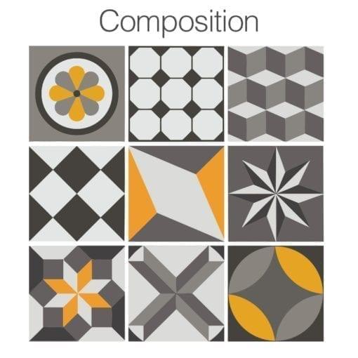 Geométrico Vintage - Composição