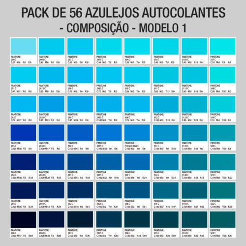 Pantones Azulejos Autocolantes Composição Modelo 1
