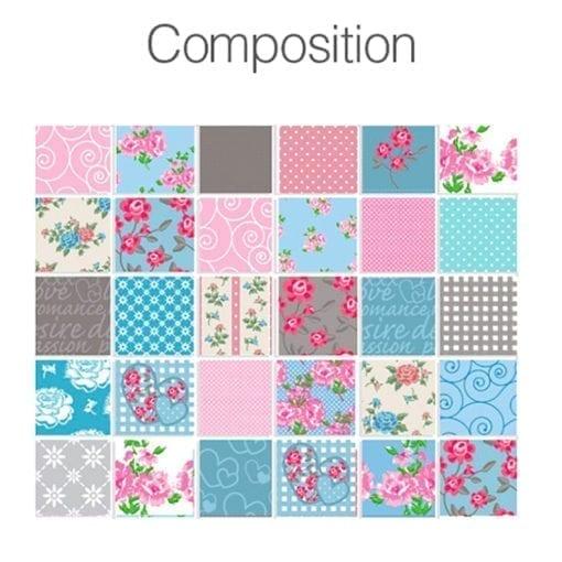 Patchwork Azulejos Autocolantes - Composição