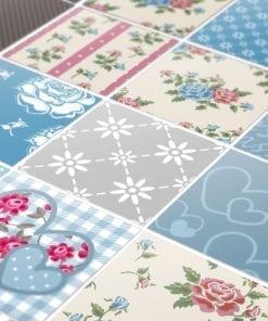 Patchwork Azulejos Autocolantes - Detalhes