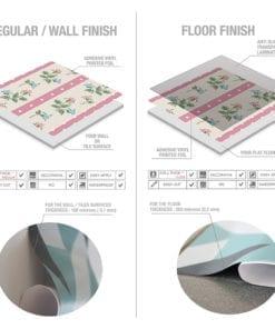 Patchwork Azulejos Autocolantes - Materia