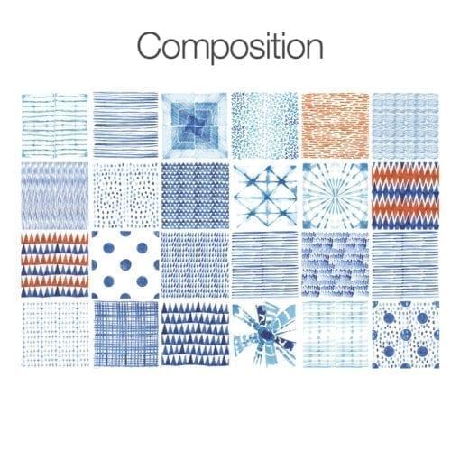 Shibori Efeito Aguarela - Composição