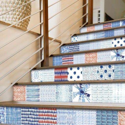 Shibori Efeito Aguarela - Escadas