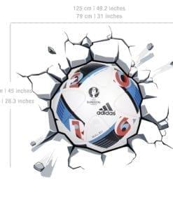 Bola do UEFA Euro 2016 na Parede vinil autocolante Detalhe