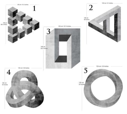 Formas Geométricas Impossíveis Dimensões
