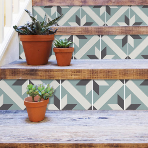 Azulejo Tradicional Francês Autocolante - Escadas