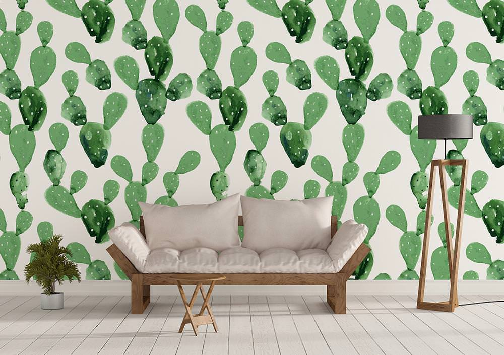 Papel de parede cactos - Cenefas de papel para paredes ...
